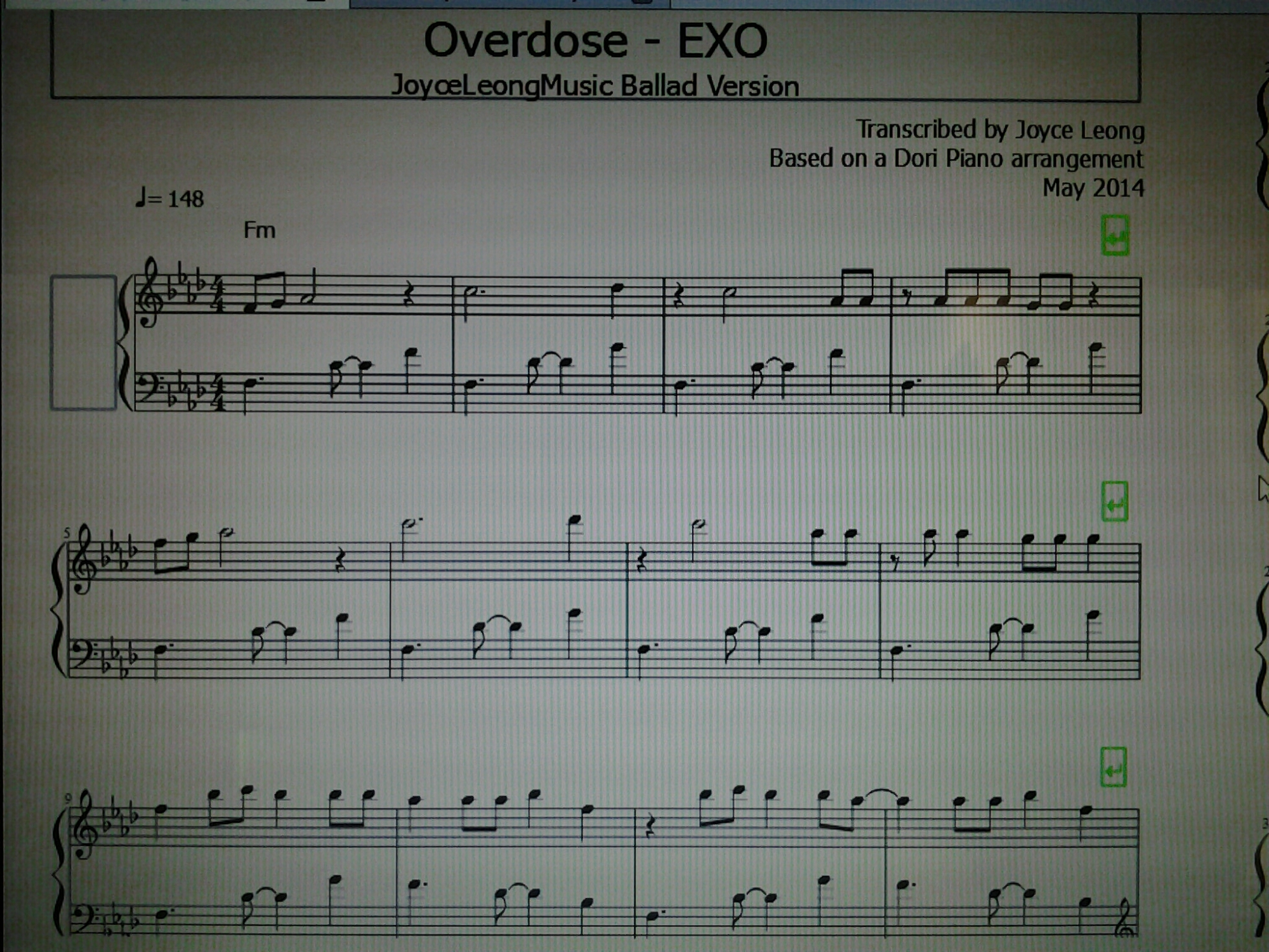 Just finished the ballad version of Overdose 🙂 Practising it now ...